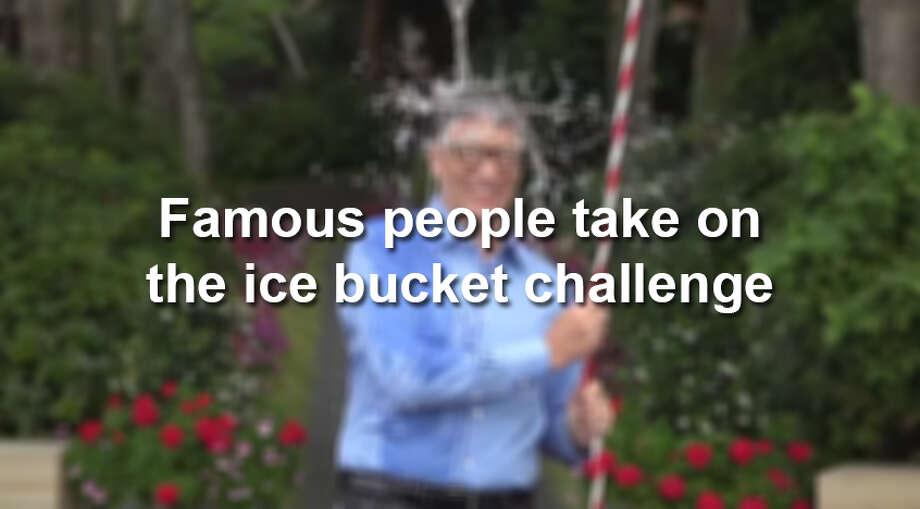 Famous people take on the ice bucket challenge Photo: YouTube