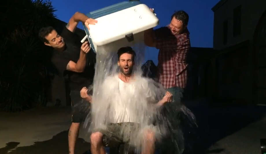 'The Voice' talents Blake Shelton, Adam Levine and Carson Daly all take the ALS Ice Bucket Challenge.Video posted on YouTube by: The Voice Photo: YouTube