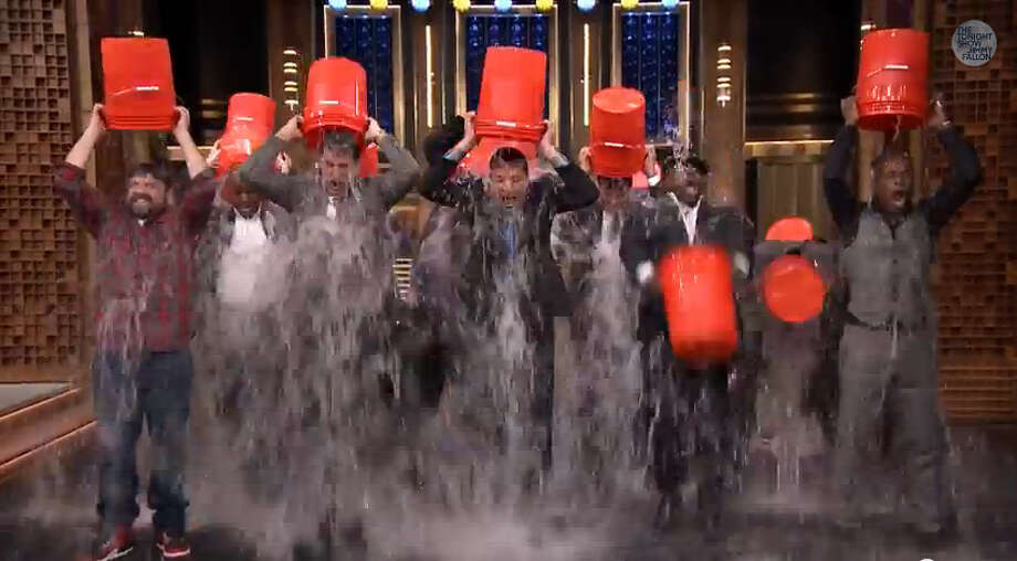 Jimmy Fallon, Rob Riggle, Horatio Sanz, Steve Higgins and The Roots take the ALS Ice Bucket Challenge on 'The Tonight Show Starring Jimmy Fallon.'Video posted on YouTube by: The Tonight Show Starring Jimmy Fallon Photo: YouTube