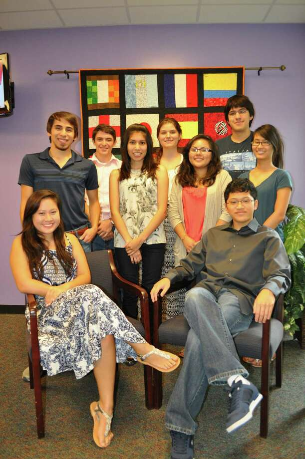 Students are, from left, standing: Adam Kassir, Connor June, Eliza Quintana, Rachel Loving, Yansi Arevalo, Jacob Saenz and Anna Levu; seated: Alyssa Nguyen and David Pham. Photo: Courtesy Spring Branch ISD