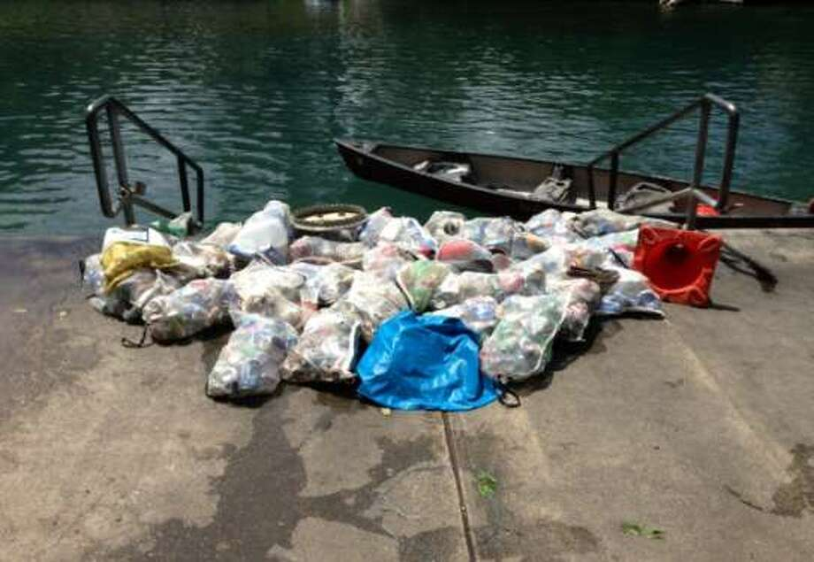 Waste collected after July 4th, 2013 Photo: City Of New Braunfels, Courtesy