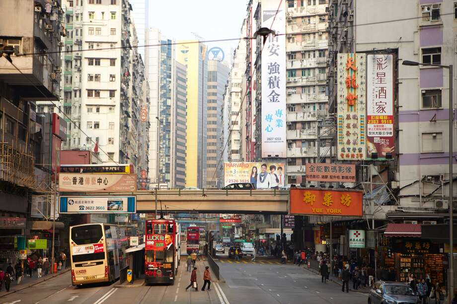 A street scene in Hong Kong. Photo: Image Source, Getty Images