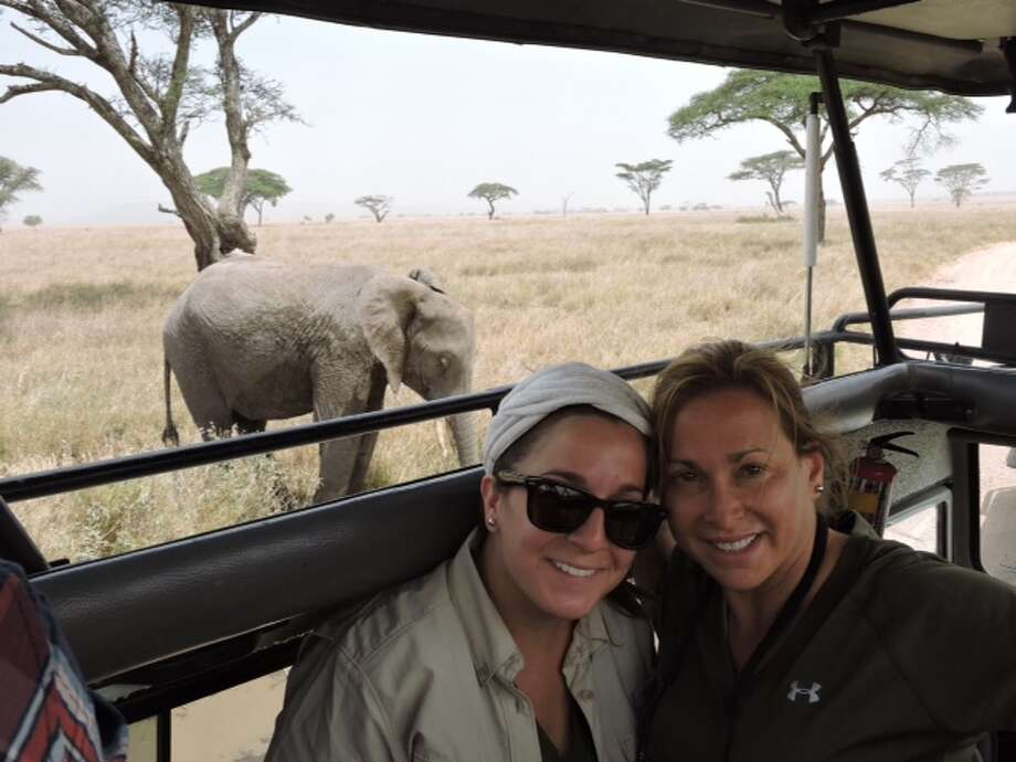 Greenwood King agent Heidi Dugan and her niece, Jessica Rosenberg, bartered and bargained on a safari tour in Tanzania.