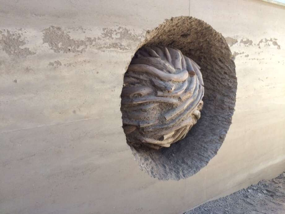 """Andy Goldsworthy's  """"Earth Wall,"""" his fourth installation in the Presidio of San Francisco.  The Chronicle/Sam Whiting"""