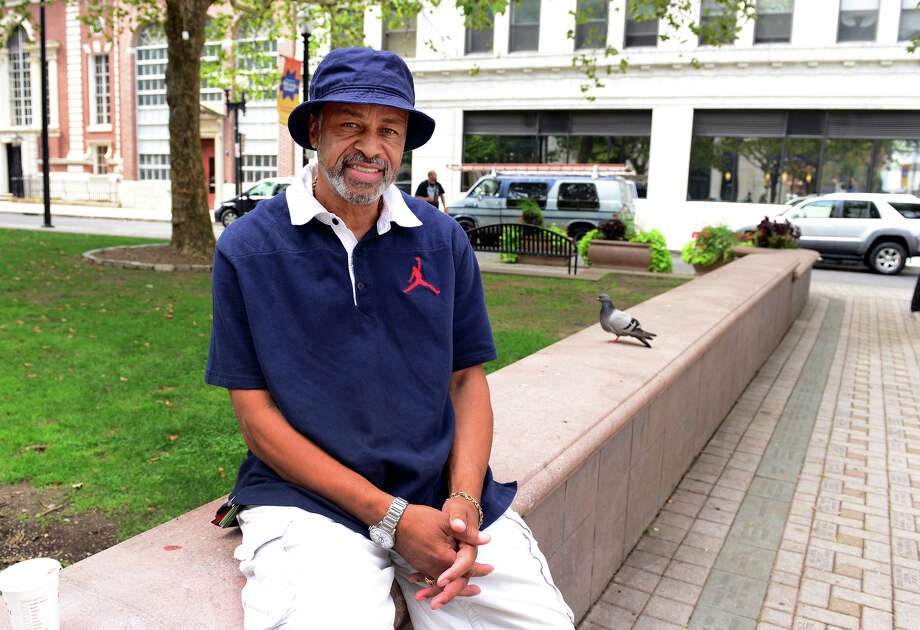 Retired police Lt. David Daniels III poses at McLevy Green in downtown Bridgeport, Conn. on Friday, Aug. 22, 2014. Daniels is considering a run for mayor and will be hosting a community forum Saturday at the downtown library at 11 am. Photo: Christian Abraham / Connecticut Post