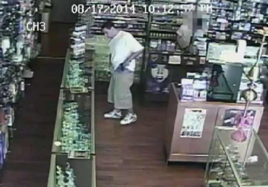 Harris County Sheriff's Office say the man is armed and dangerous and suspected of robbery several area smoke shops at gun point. Photo: Harris County Sheriff's Office