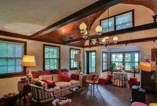 Living area with high ceilings, barn-like feel. Photos: MLS/Martha Diebold