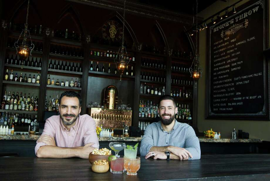Stone's Throw is a cocktail lounge from Shawn Bermudez, left, and Hunter Montgomery. Photo: J. Patric Schneider, Freelance / © 2014 Houston Chronicle