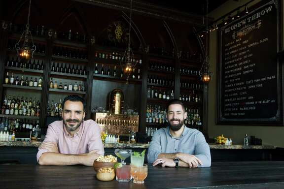 Stone's Throw is a cocktail lounge from Shawn Bermudez, left, and Hunter Montgomery.