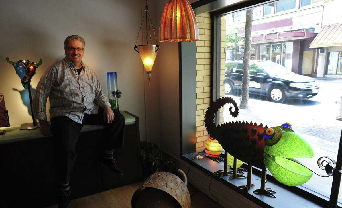 Phillip Schrank, owner of Gallery Vetro, is moving his business to 250 E. Houston St.