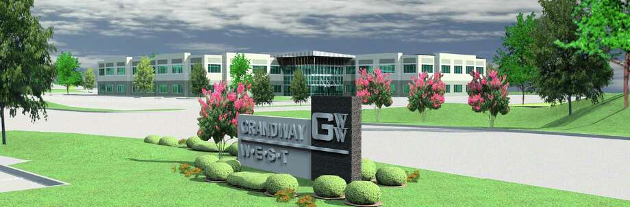 Grandway West in the Katy area could total up to 780,000 square feet on 56 acres at Grand Parkway and Franz Road. The first building's tenants are scheduled to take occupancy in December. The office park is being built in phases. / ONLINE_YES