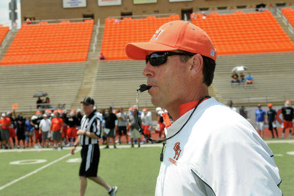 K.C. Keeler is in his first season as coach at Sam Houston State.