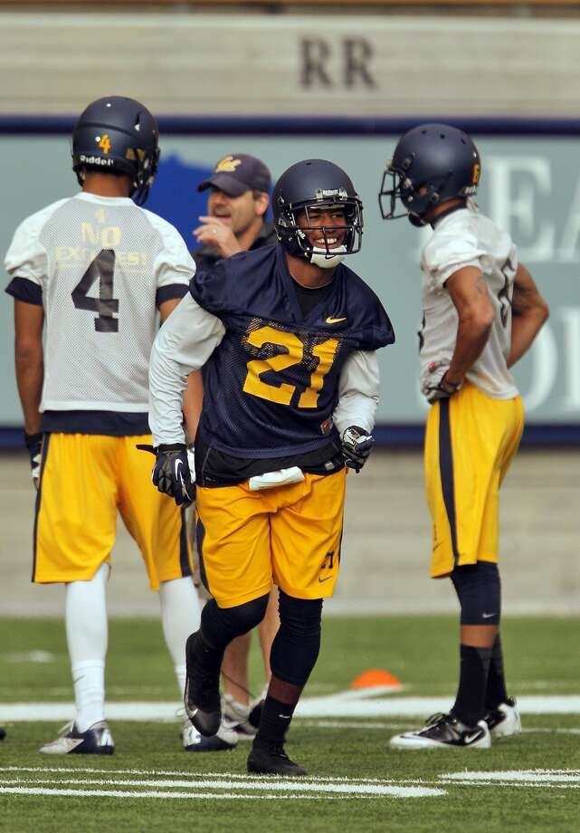 Cal's Stefan McClure runs onto the field during practice for the Cal football team at Memorial Stadium in Berkeley, Calif., on Tuesday, August 6, 2013. Photo: Carlos Avila Gonzalez, The Chronicle