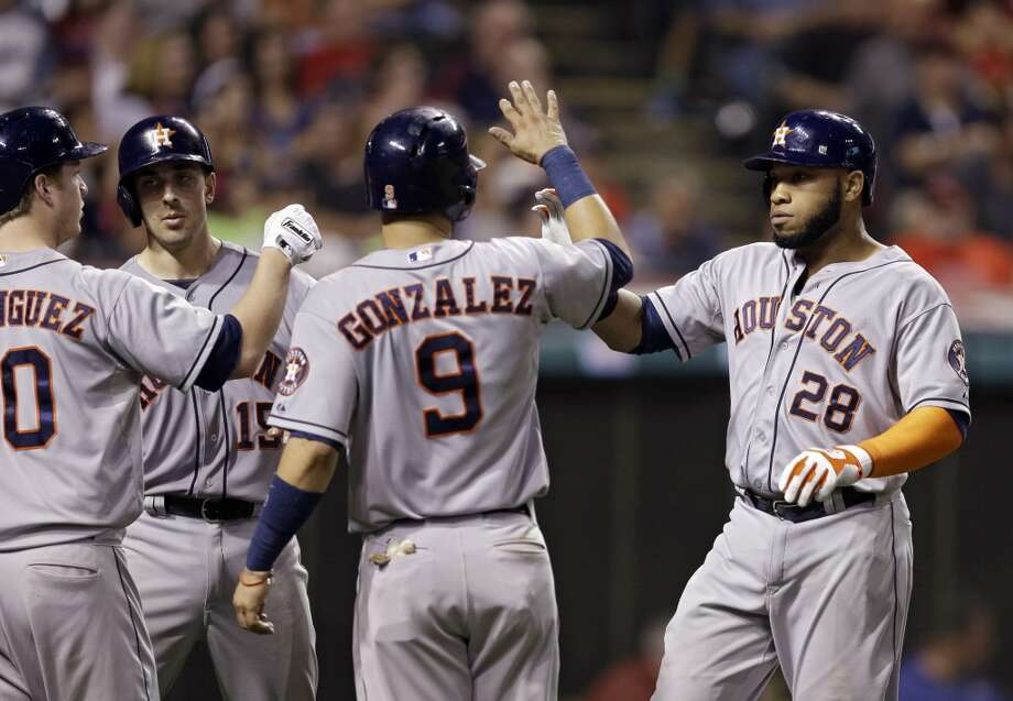 August 22: Astros 5, Indians 1Jon Singleton delivered the big blow as the Astros rallied for 4 unearned runs in the 9th inning en route to winning the series opener in Cleveland.  Record: 55-74. Photo: Mark Duncan, Associated Press