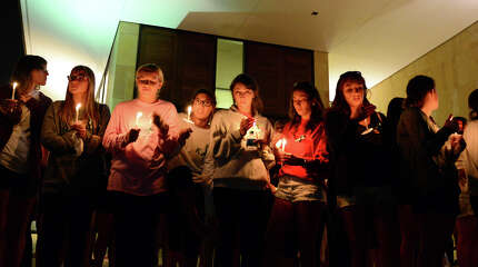 A service and candlelight vigil was held for student Kaitlyn Doorhy at Sacred Heart University in Fairfield, Conn. on Friday August 22, 2014. Kaitlyn was seriously injured after being struck by a car earlier in the day.