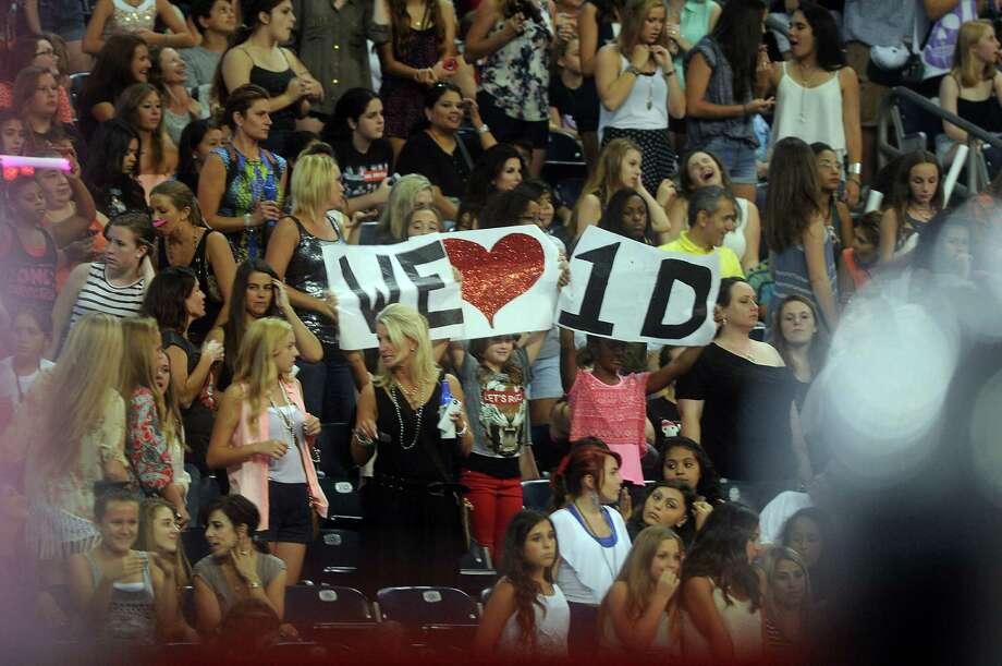 One Direction inspires intense devotion from the mostly female audience Friday night. Photo: Dave Rossman, Freelance / © 2014 Dave Rossman