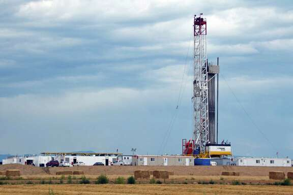 A site north of Denver has multiple wells drilled on a single pad with equipment also staged on-site, both new approaches.