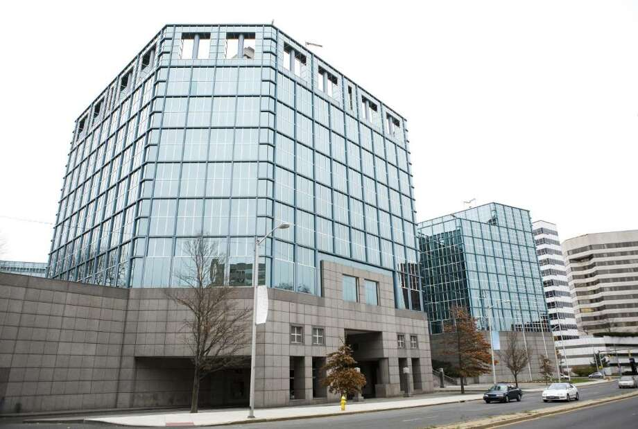 Lehman Brothers Holdings Inc. was granted ownership of the former Gen Re building at 695 East Main St. in Stamford at a bankruptcy court hearing on Friday. Lehman plans to spruce up and market the empty building to new tenants. Photo: File Photo / Stamford Advocate File Photo