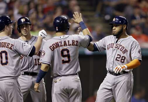 August 22: Astros 5, Indians 1  Jon Singleton delivered the big blow as the Astros rallied for 4 unearned runs in the 9th inning en route to winning the series opener in Cleveland.  Record: 55-74. Photo: Mark Duncan, Associated Press