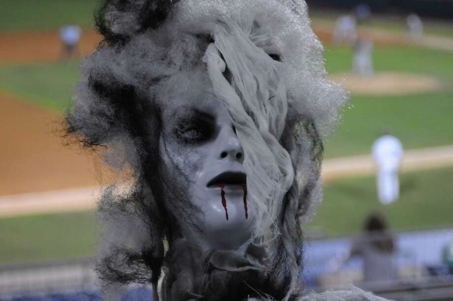Friday, August 22 was Zombie Apocalypse night at the Bridgeport Bluefish game. The Haunted Graveyard at Lake Compounce took over the Ballpark at Harbor Yard as the team battled the Lancaster Barnstormers. Were you SEEN? Photo: Stacey Scruggs/Hearst Connecticut Media Group