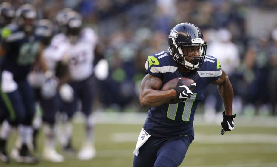 WR Percy Harvin If there was any lingering doubt left about whether Harvin is healthy, he certainly proved this week that he's ready to go. Harvin was Seattle's second-best receiver on Friday, with 61 yards on just three receptions, including a 25-yard reception during the Seahawks' first touchdown drive of the game. He also displayed his value to the return game with his speedy 46-yard kick return to open the tilt. Harvin proved Friday that he's one of the pieces that makes Seattle's offense truly dynamic. — Sarah Kirkpatrick Photo: Stephen Brashear, Associated Press