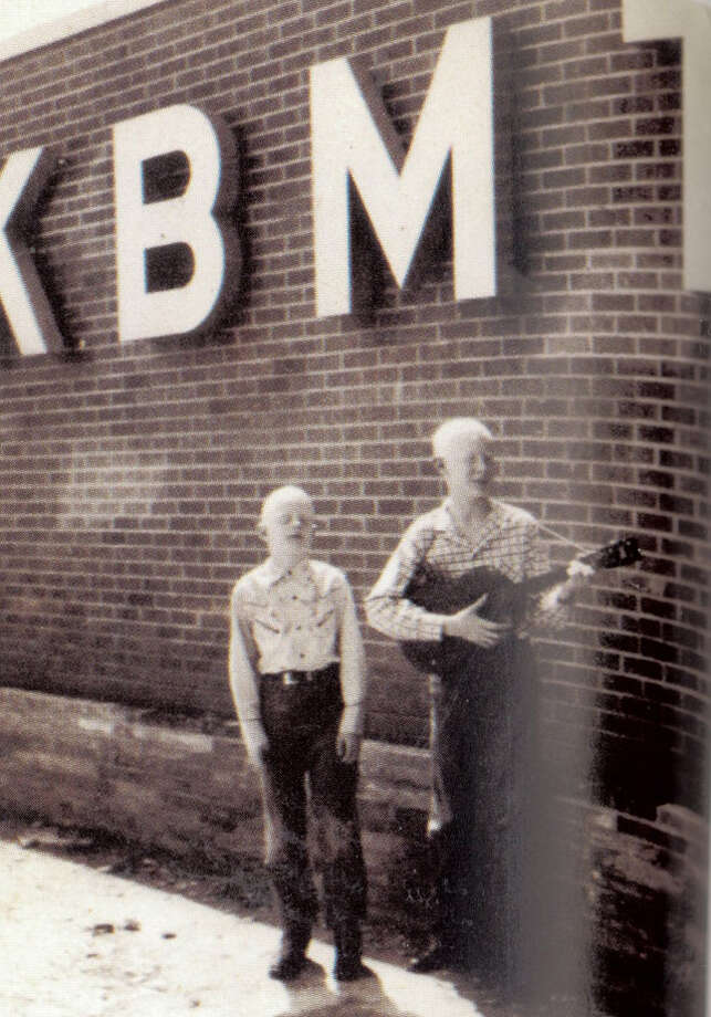 "Edgar and Johnny Winter outside KBMT, where they won their first talent contest in 1953. Photo courtesy of the book ""Raisin' Cain"" The Wild and Raucous Story of Johnny Winter"", copyright 2010 by Mary Lou Sullivan Photo: Courtesy"