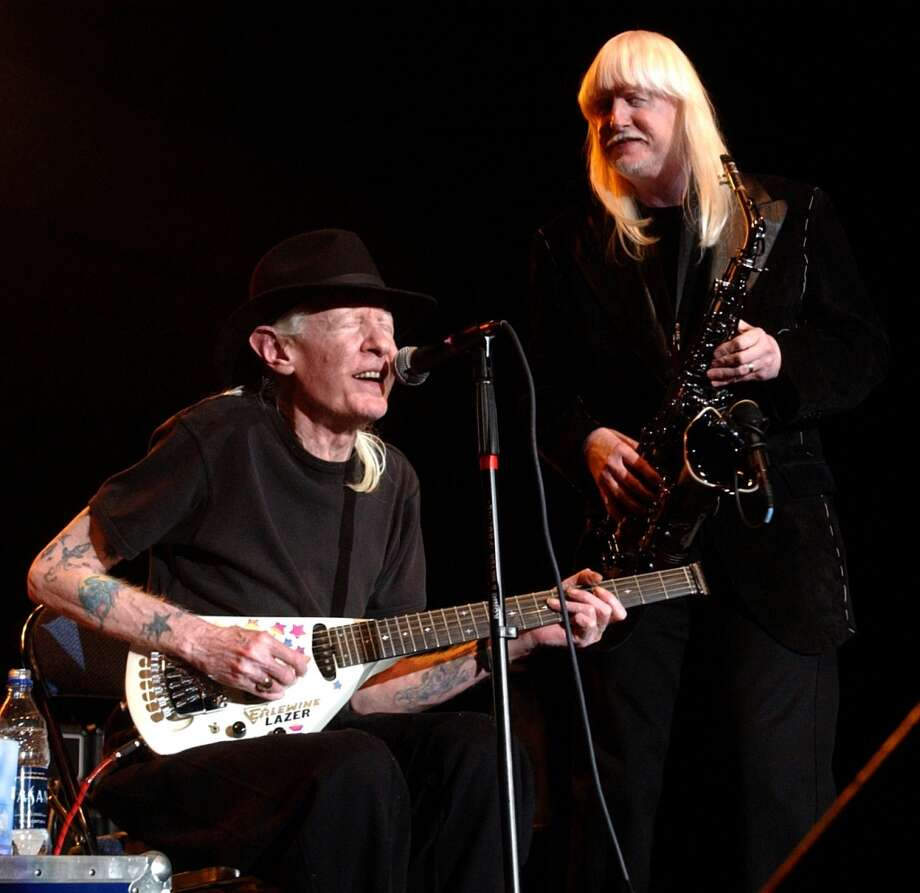 Johnny and Edgar Winter perform together  at the Beaumont Civic Center for the first time in 24 years on November17, 2005. Their mother Edwina Winter died last weeek.  Enterprise file art Photo: File