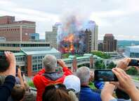 Good-bye, Wellington Annex...KaBoom and colors, too. ( Michael P. Farrell/Times Union)