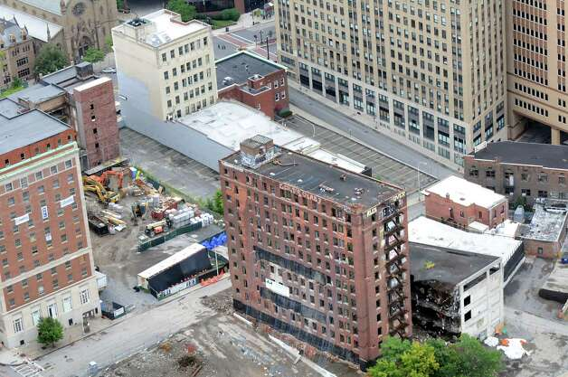 The Wellington Annex before the implosion on Saturday, Aug. 23, 2014, in Albany, N.Y. (Cindy Schultz / Times Union) Photo: Cindy Schultz / 00028210C
