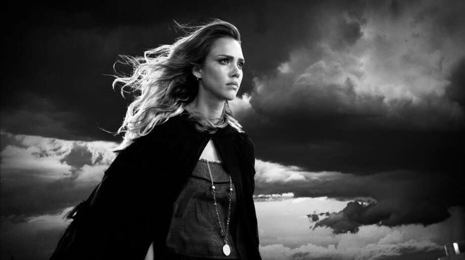 "Jessica Alba as Nancy, whose wardrobe goes from burlesque bombshell to punk rock avenger on ""Sin City: A Dame to Kill For.""  ""My incredible team created all of Jessica's stripper looks,"" costume designer Nina Proctor says. ""They're really beautiful pieces. It was so important that they move correctly too when she dances."" Photo: Dimension Films"