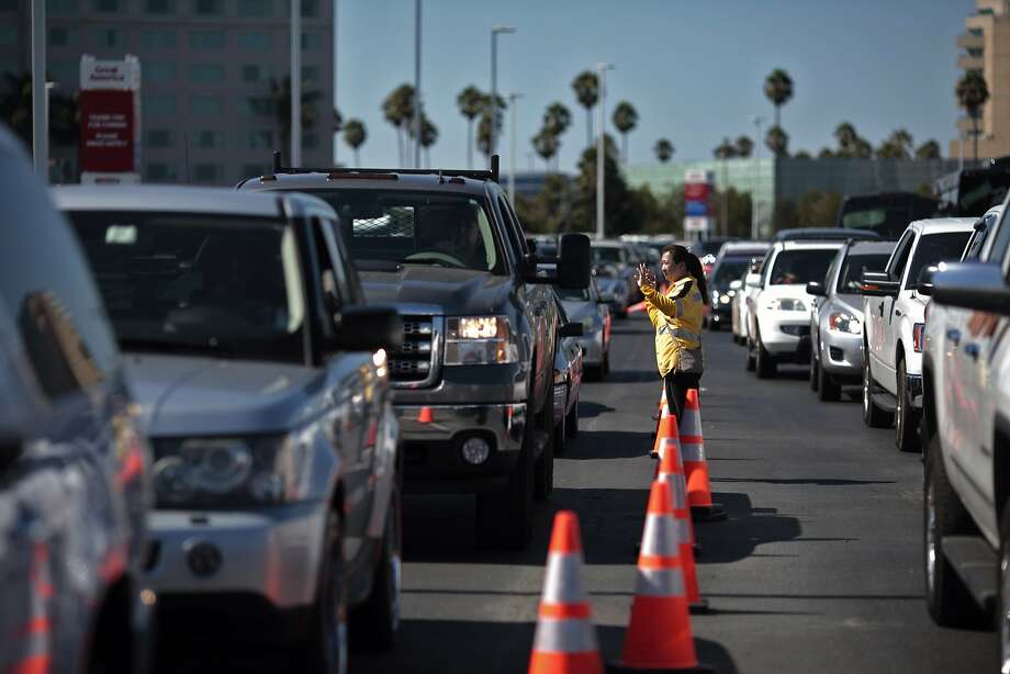 Parking is at a premium at Levi's Stadium in Santa Clara, and Great America's owners have agreed to close the park on game days to help meet the demand. Photo: James Tensuan, The Chronicle