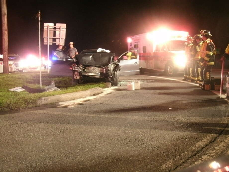 State Police provided this photo showing the 3-car crash on Route 9 on Friday, Aug. 22.