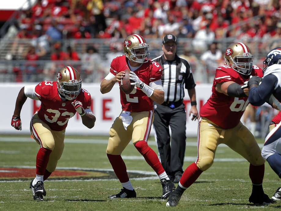 Blaine Gabbert is looking to show he can be trusted as the 49ers' second-string quarterback. Photo: Carlos Avila Gonzalez, The Chronicle