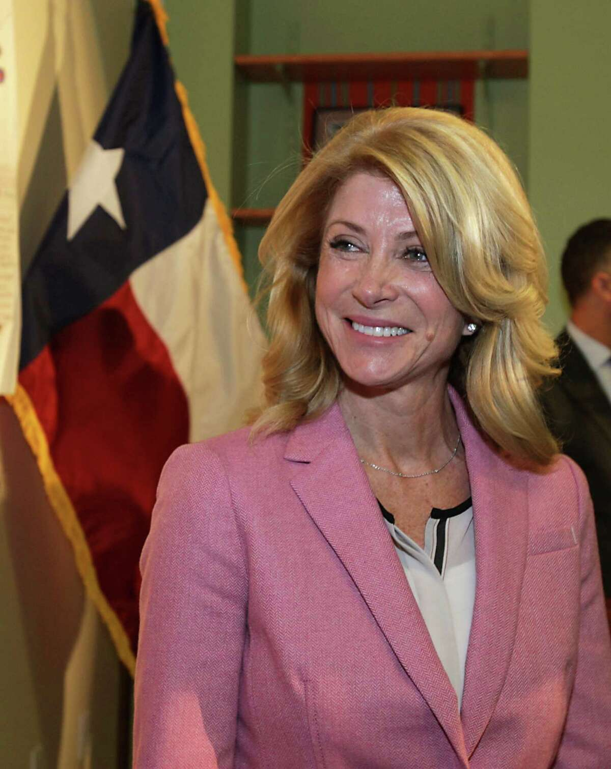 Texas State Senator and gubernatorial candidate Wendy Davis during after her speech Great Schools: Great State at the Baker-Ripley Neighborhood Center Wednesday, Feb. 12, 2014, in Houston. ( James Nielsen / Houston Chronicle )
