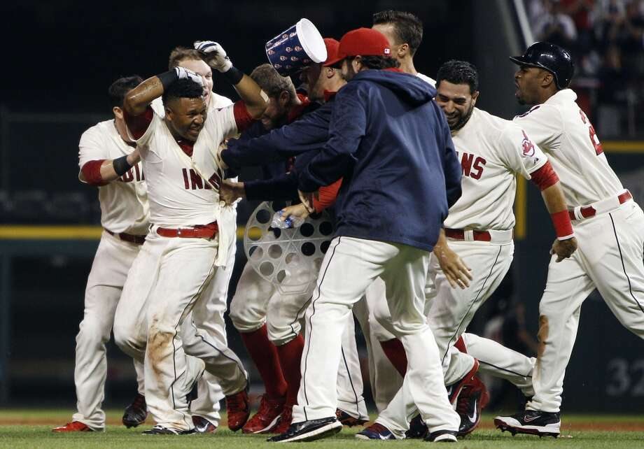 August 23: Indians 3, Astros 2Houston's bullpen couldn't hold on as the Indians tied up the series with a walk-off win in Cleveland.  Record: 55-75. Photo: David Maxwell, Getty Images