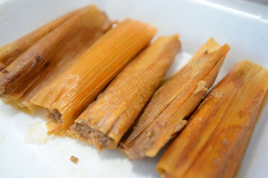 Tamales at Uncle Henry's tamales in Beaumont.