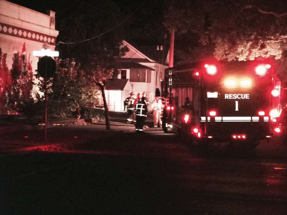 Reader Althea Keffer sent this photo of emergency personnel on Jefferson St., near Fuller Park. A 6.0-magnitude earthquake hit the area, centered near American Canyon in Napa County, at 3:20 a.m. on Sunday, August 24, 2014. Photo: Althea Keffer