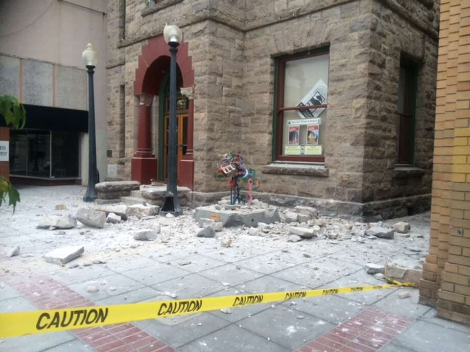 The Goodman Library sustained damage. A 6.0-magnitude earthquake hit the area, centered near American Canyon in Napa County, at 3:20 a.m. on Sunday, August 24, 2014. Photo: Jill Tucker