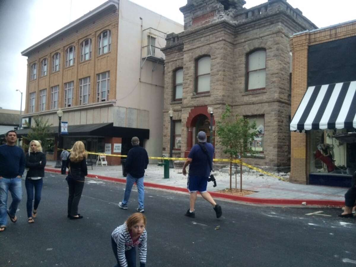 The Goodman Library sustained damage. A 6.0-magnitude earthquake hit the area, centered near American Canyon in Napa County, at 3:20 a.m. on Sunday, August 24, 2014.