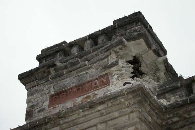 The Goodman Library building shows damage from an earthquake in Napa, Calif., as a strong earthquake hit the San Francisco Bay Area centered near American Canyon522298, on Sunday, August 24, 2014. Photo: Carlos Avila Gonzalez, The Chronicle
