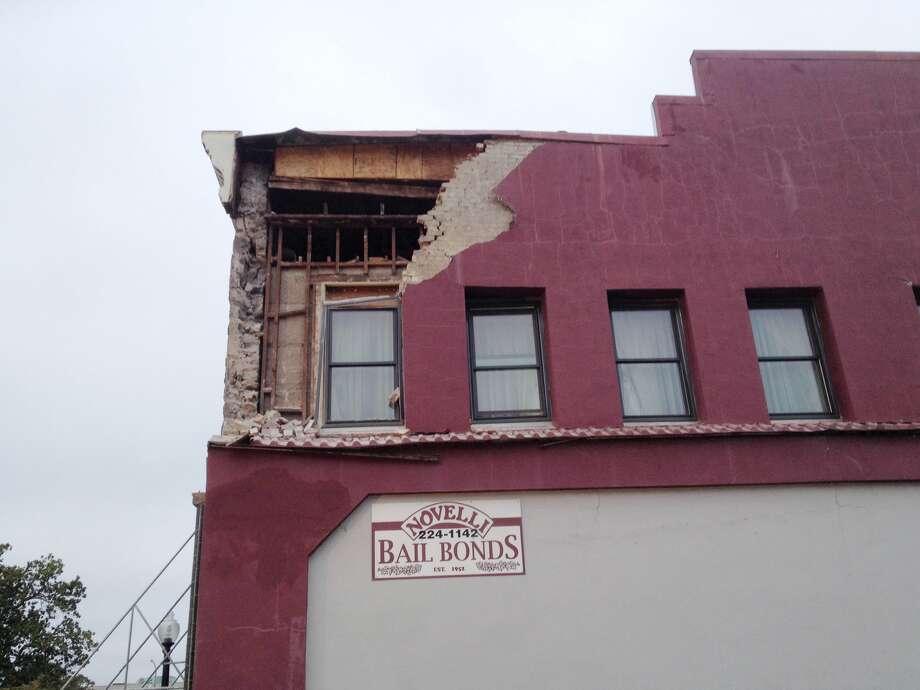 Reader Jonathan Clark sent this photo of damage in Napa. An earthquake hit the area, centered near American Canyon in Napa County, at 3:20 a.m. on Sunday, August 24, 2014. Photo: Jonathan Clark