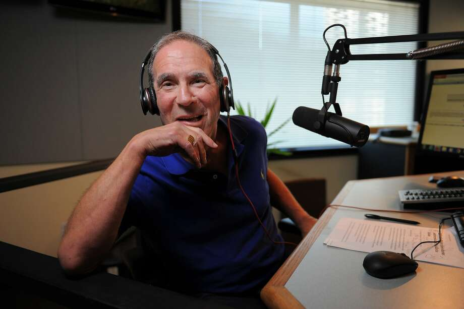 Longtime KGO radio host Ronn Owens, above and below on the job, says he's had Parkinson's disease since 2001 but held off talking about it because he didn't want people to feel sorry for him. Photo: Craig Hudson, The Chronicle