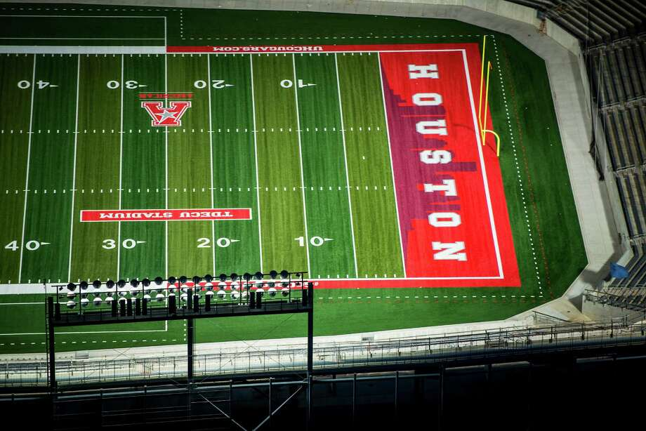 TDECU Stadium at the University of Houston seen in an aerial view on Wednesday, Aug. 20, 2014, in Houston. ( Smiley N. Pool / Houston Chronicle )  City: Houston  Location: South Side GPS: N29°43.472' W95°20.874' Photo: Smiley N. Pool, Houston Chronicle / © 2014  Houston Chronicle