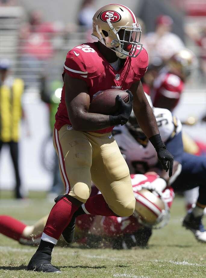 Rookie Carlos Hyde may be the 49ers' sole bright spot this preseason. Photo: Marcio Jose Sanchez, Associated Press