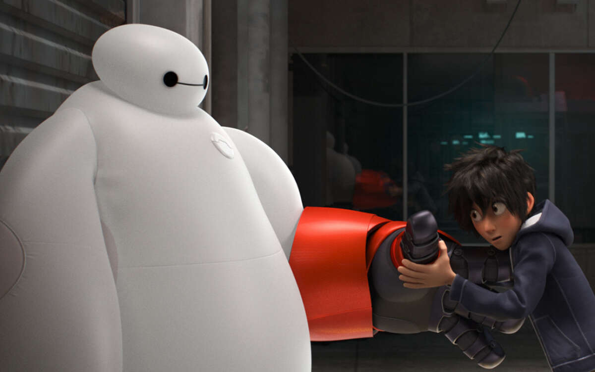 """In """"Big Hero 6,"""" a special bond develops between plus-size inflatable robot Baymax and prodigy Hiro Hamada, who team up with a group of friends to form a band of high-tech heroes in San Fransokyo."""