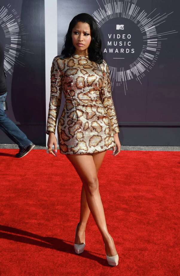 Nikki Minaj arrives at the MTV Video Music Awards at The Forum on Sunday, Aug. 24, 2014, in Inglewood, Calif. Photo: Jordan Strauss, AP / Invision