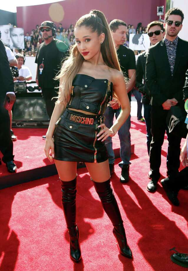 Ariana Grande arrives at the MTV Video Music Awards at The Forum on Sunday, Aug. 24, 2014, in Inglewood, Calif. Photo: Matt Sayles, AP / AP2014
