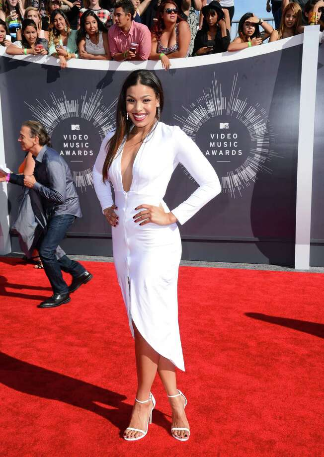 Jordin Sparks arrives at the MTV Video Music Awards at The Forum on Sunday, Aug. 24, 2014, in Inglewood, Calif. Photo: Jordan Strauss, AP / Invision