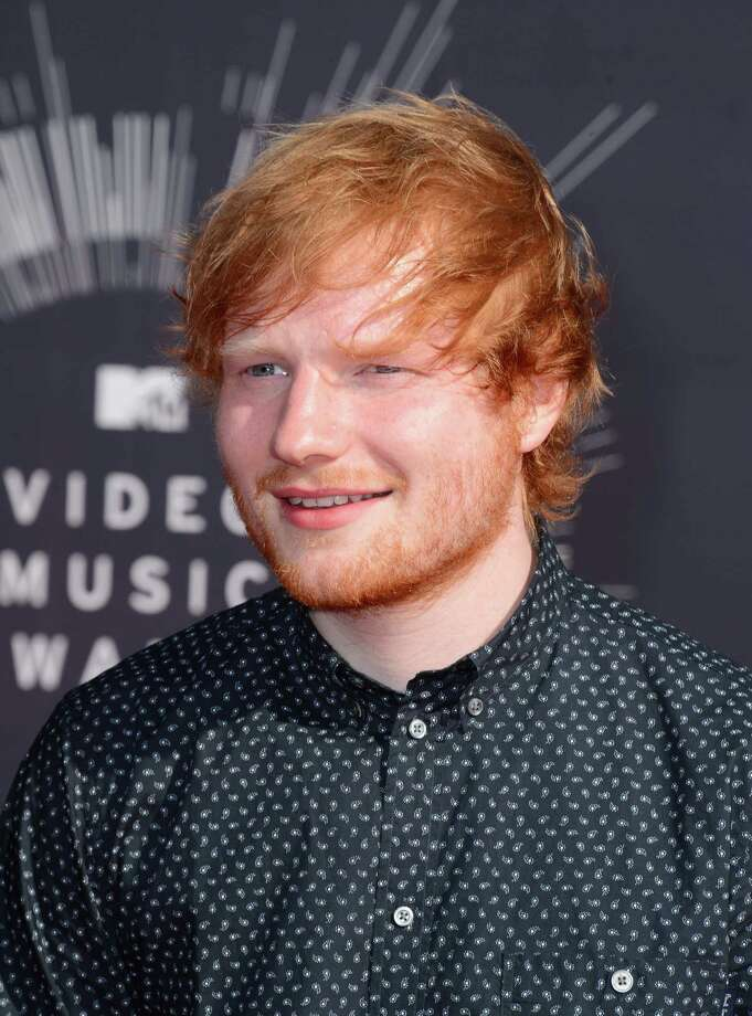 Ed Sheeran arrives at the MTV Video Music Awards at The Forum on Sunday, Aug. 24, 2014, in Inglewood, Calif. Photo: Jordan Strauss, AP / Invision