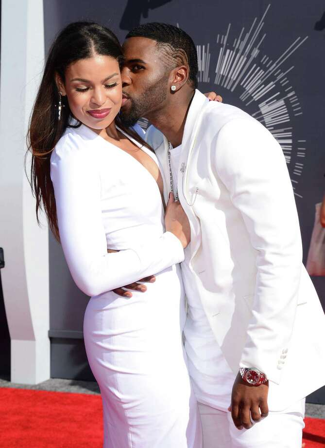 Jordin Sparks and Jason Derulo arrive at the MTV Video Music Awards at The Forum on Sunday, Aug. 24, 2014, in Inglewood, Calif. Photo: Jordan Strauss, AP / Invision